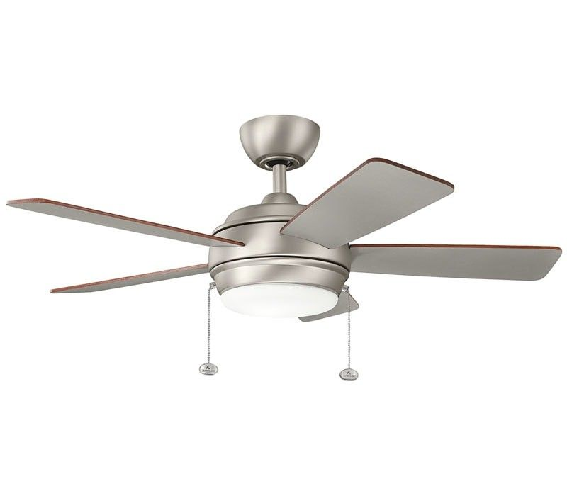 kichler 330174nbr starkk led natural brass 52 ceiling fan with rh pinterest com