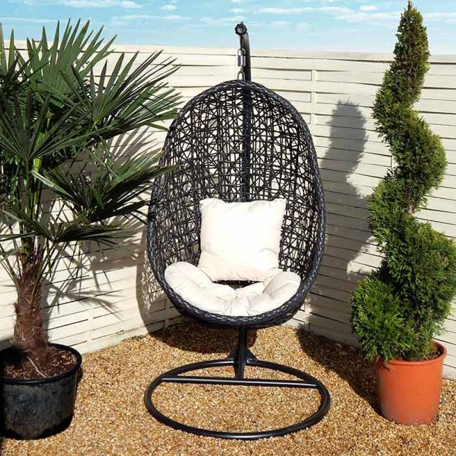 Miraculous Wild Garden Hanging Egg Chair With Cushion Charlies Direct Caraccident5 Cool Chair Designs And Ideas Caraccident5Info
