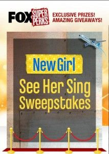 Enter Fox New Girl's See Her Sing Sweepstakes and you could win a trip to go to a SHE & HIM concert in New York City.