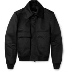 Burberry ProrsumStudded-Collar Cotton Bomber Jacket