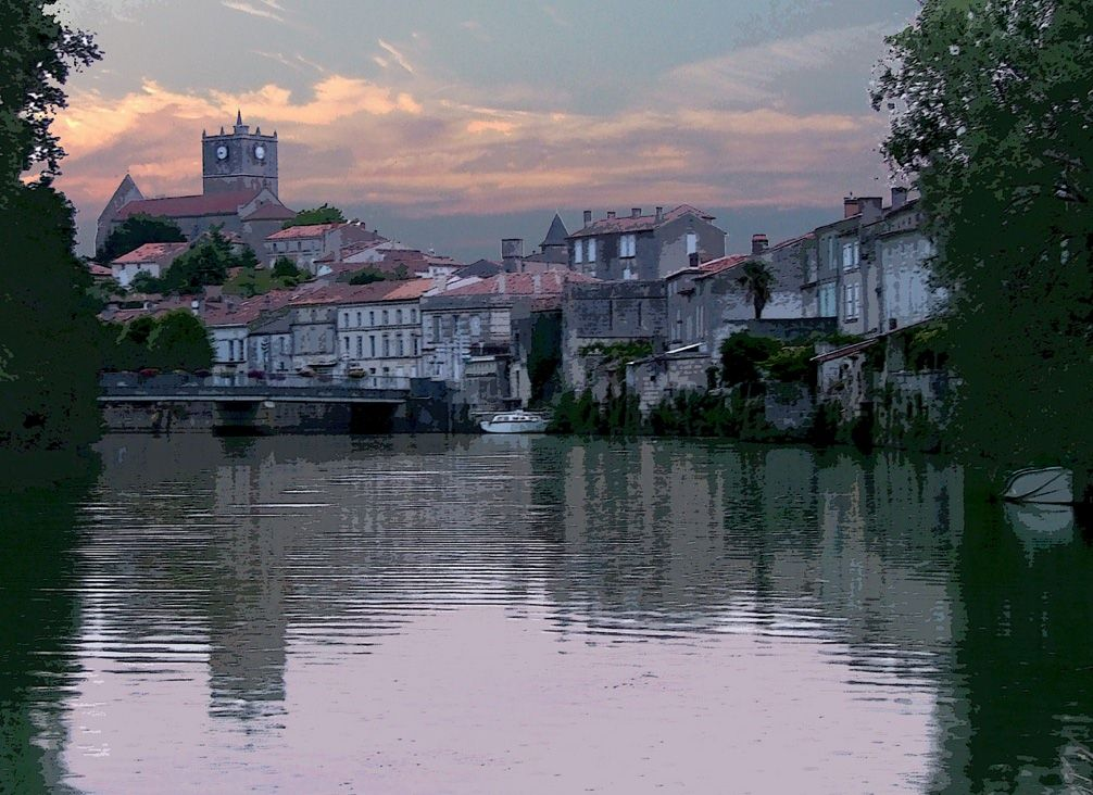 The lovely town of Saint Savinien in the Charente Maritime area of France