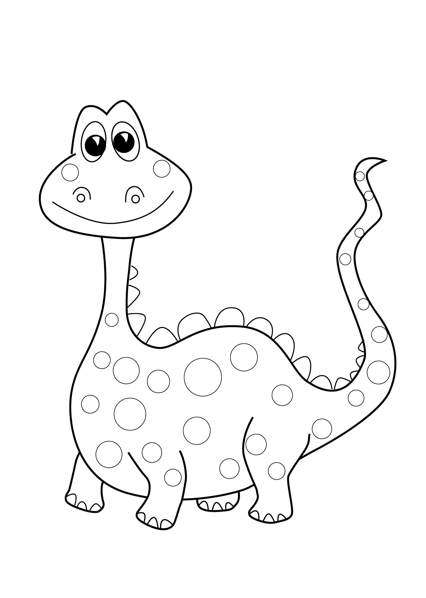 Preschool dinosaur coloring pages printable