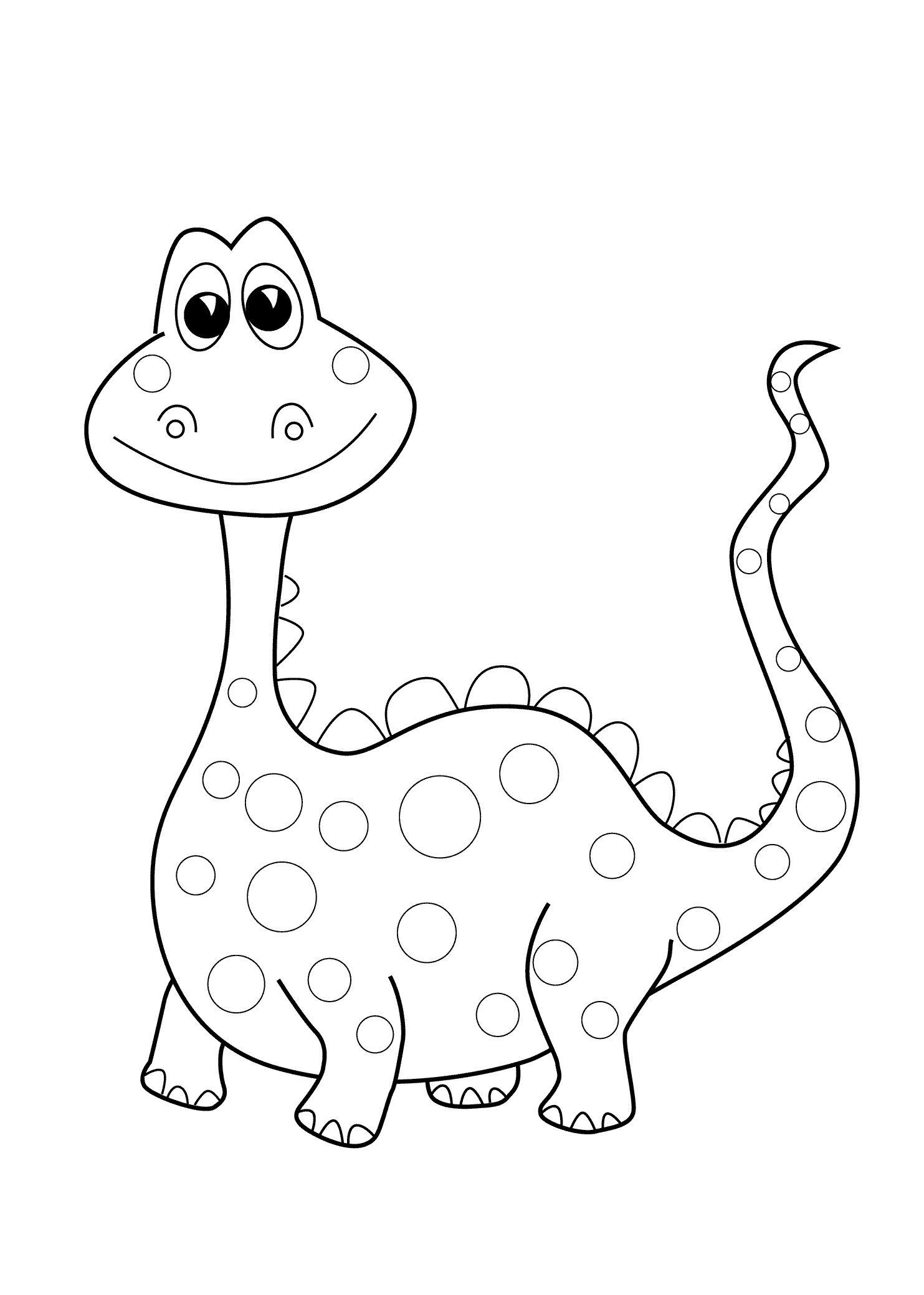 Preschool Dinosaur Coloring Pages Printable