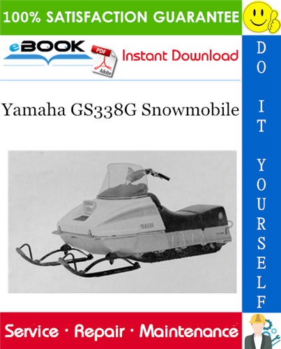 Yamaha Gs338g Snowmobile Service Repair Manual In 2020 Repair Manuals Repair Yamaha