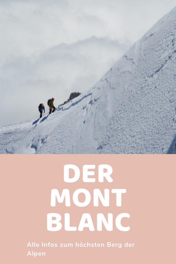 Der Mont Blanc Der Hochste Berg Der Alpen Mont Blanc Alpen Franzosische Alpen