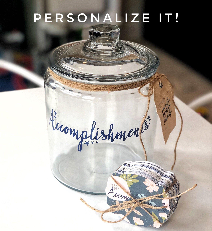 Success Journal Goal Tracker Accomplishments Jar