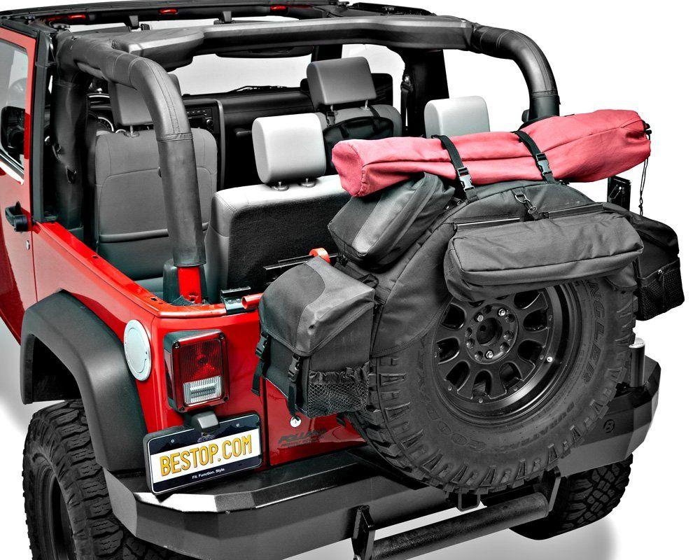 "Bestop RoughRider Tire Organizer for 34"" 37"" Jeep"