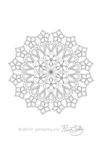 Complex Mandala Coloring Page | tu an | Pinterest | Mandala coloring ...