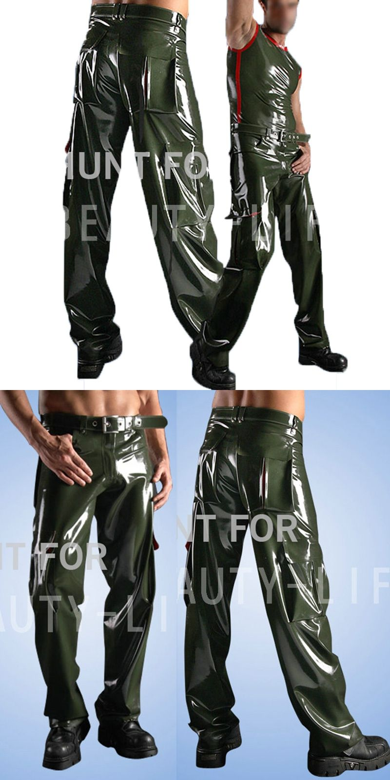 Latex Fetish Trousers Sexy Pants For Men