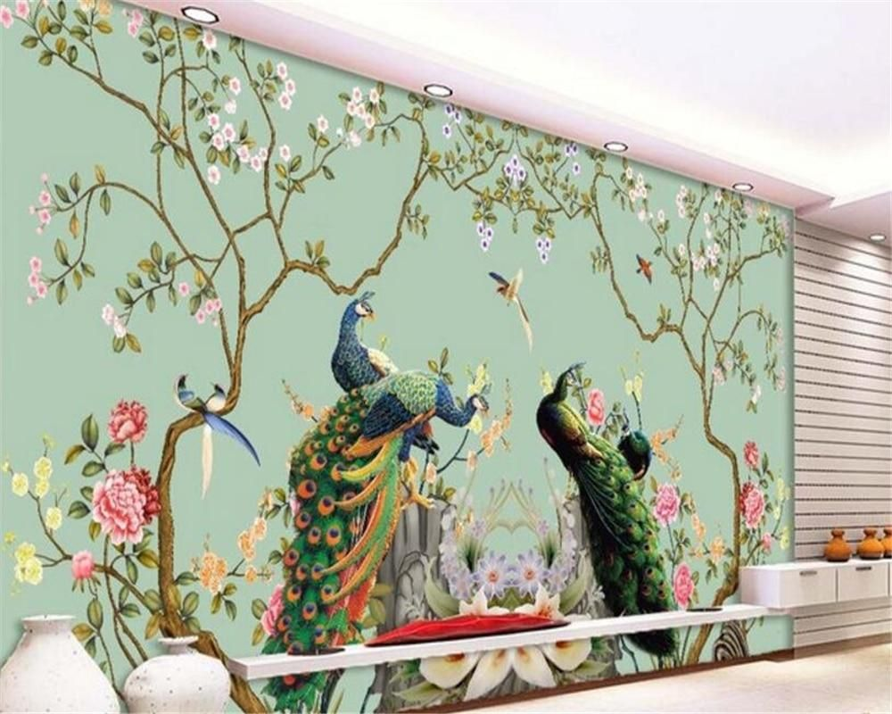 Avikalp Advanced Decorative Painting Beautiful Leaf Peacock Background 3d Wallpaper Tap 3dwallpaperblue 3d Wall Murals Wall Painting 3d Wall Murals Wallpapers 3d ceiling wallpaper india