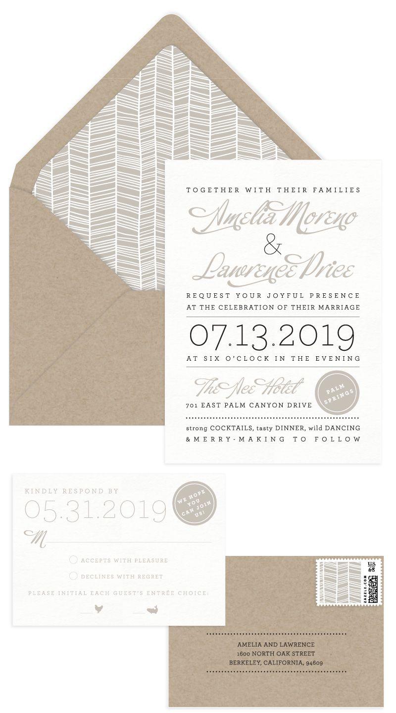 Order samples aerialist press wedding kraft invitation idea