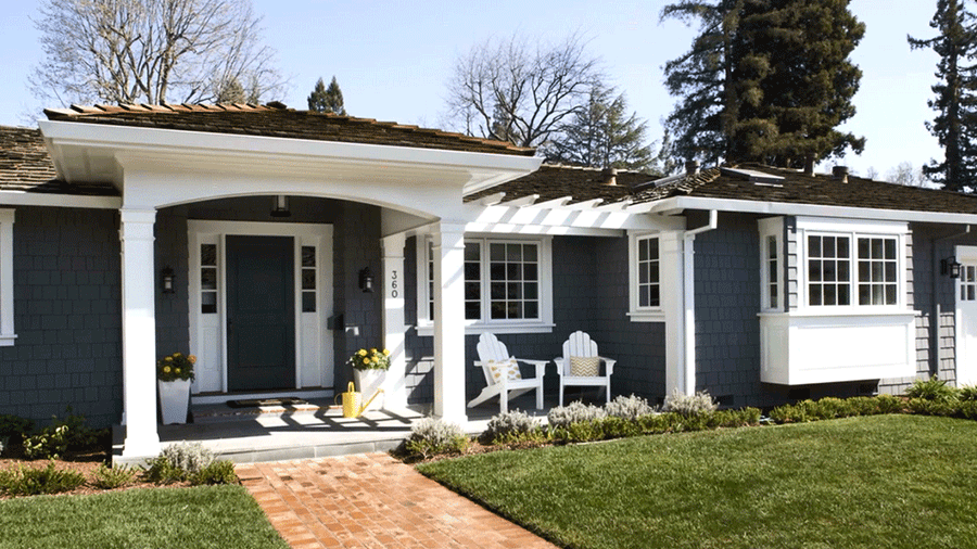 Before And After: Home Exteriors. Front Porch RemodelFront ...