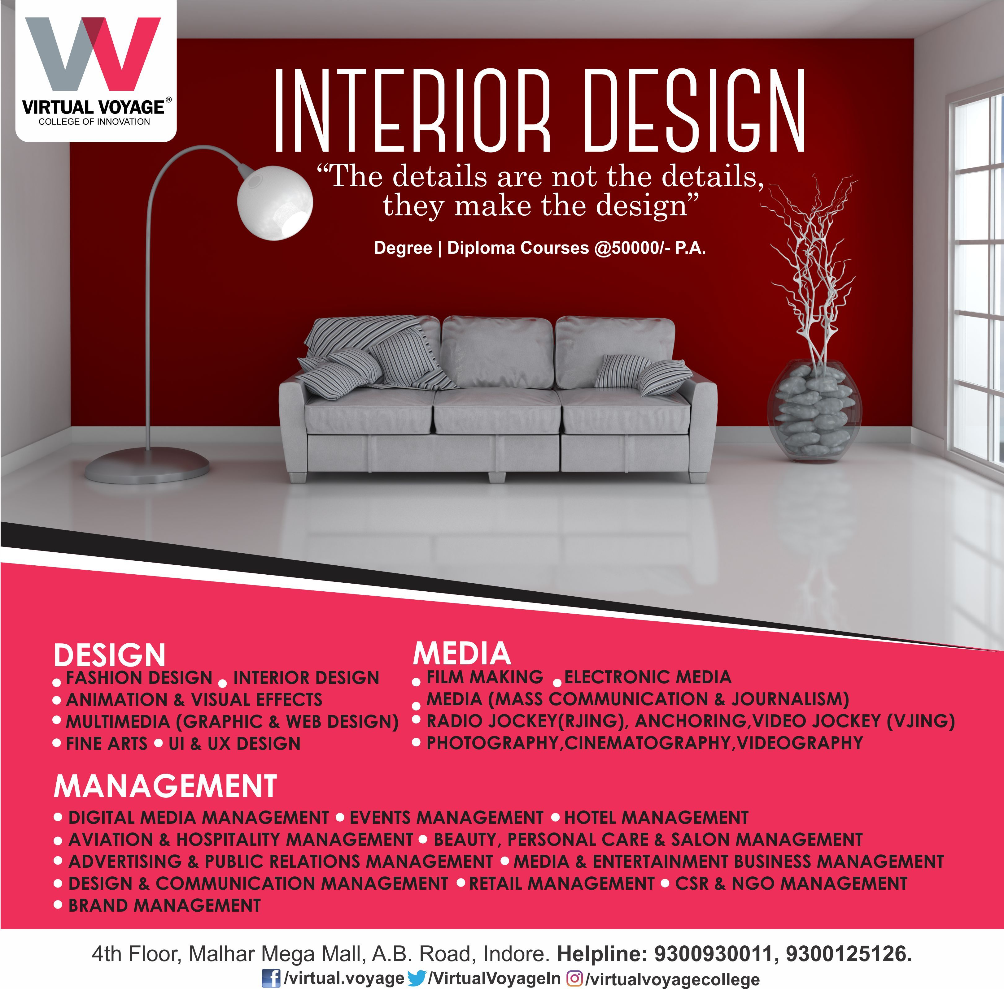 Every Place Has A Story To Tell And Our Fine Interior Design Courses Impart Students The Right S Interior Design Courses Interior Design Colleges Design Course