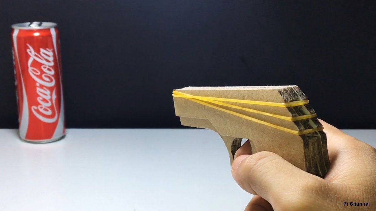 How To Make Cardboard Gun That Shoots Rubber Band Gun