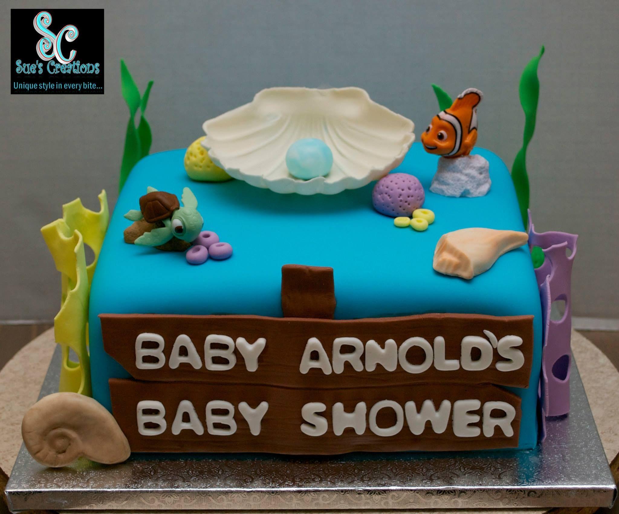 Finding Nemo Baby Shower Cake Custom Made Cakes Pinterest Baby