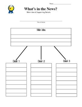 News Article Graphic Organizer For Weekly Reader Scholastic News