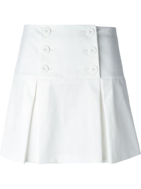 8533f64d22e2e Red Valentino Box Pleat A-line Skirt - Cumini - Farfetch.com ...