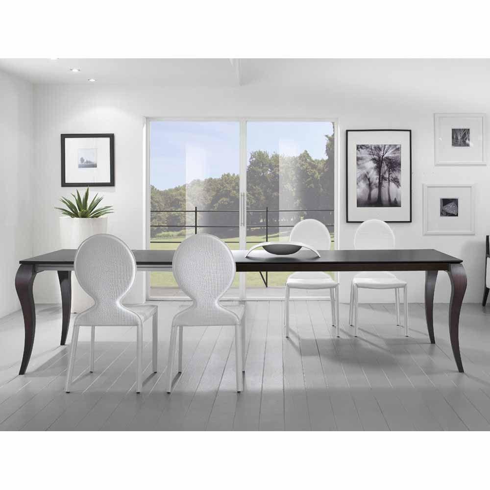 Tavolo rettangolare allungabile in legno Friulsedie Victor, gambe ...