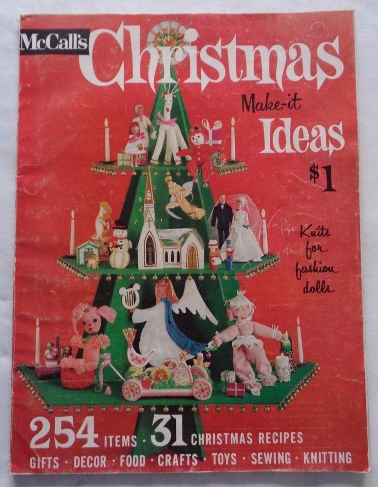 Vintage Mccall S Christmas Make It Ideas 1963 Recipes Gifts Decor