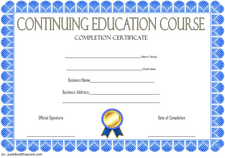 CEU Certificate Template 6 in 2020 Certificate templates