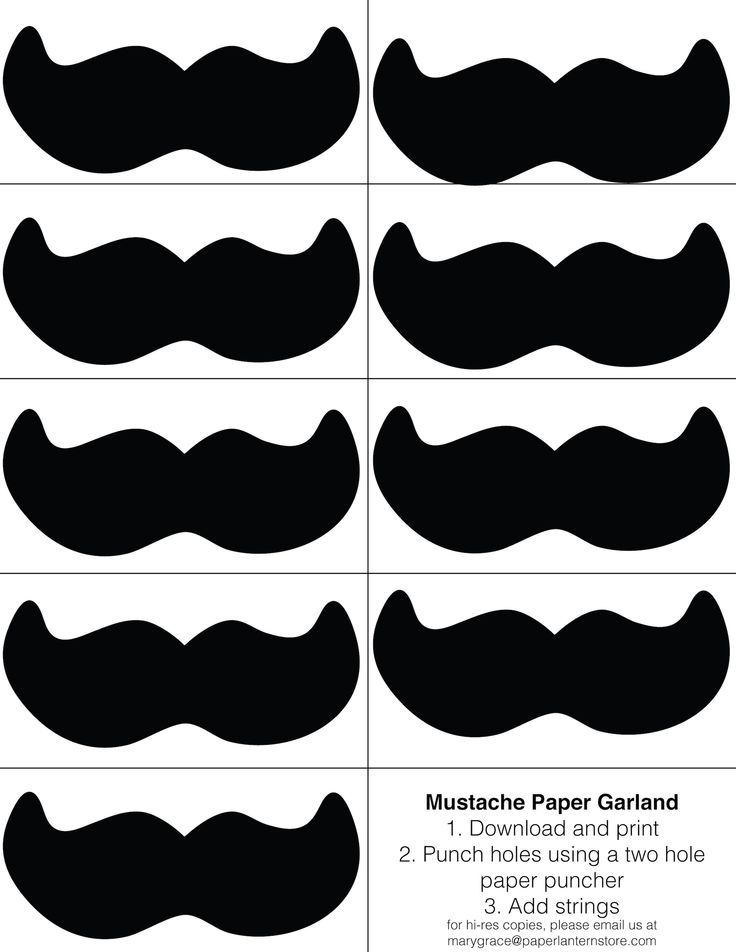Mustache DIY Paper decoration Enjoy our mustache printable for