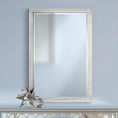 possini euro metzeo metal 22 x 33 rectangular wall mirror rh pinterest com