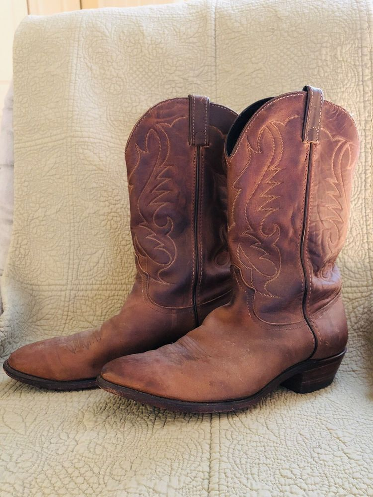 Code west mens cowboy boots brown leather 105 nice