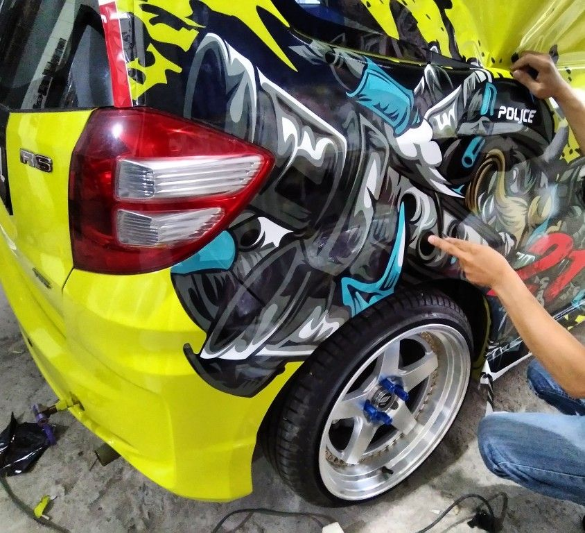Decal Sticker Mobil Sepeda