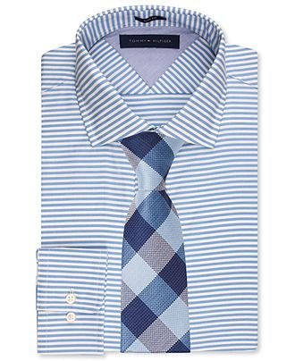 classic styles beautiful design largest selection of 2019 Tommy Hilfiger Slim-Fit Light Blue Horizontal Stripe Dress ...