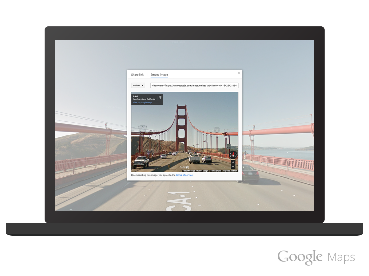 Google Maps now lets you embed Street