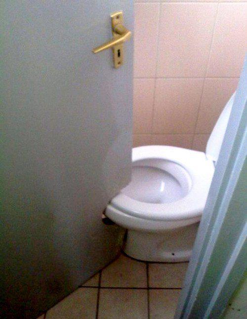 Bad Designer in another exle of poor design this door needed to be cut around