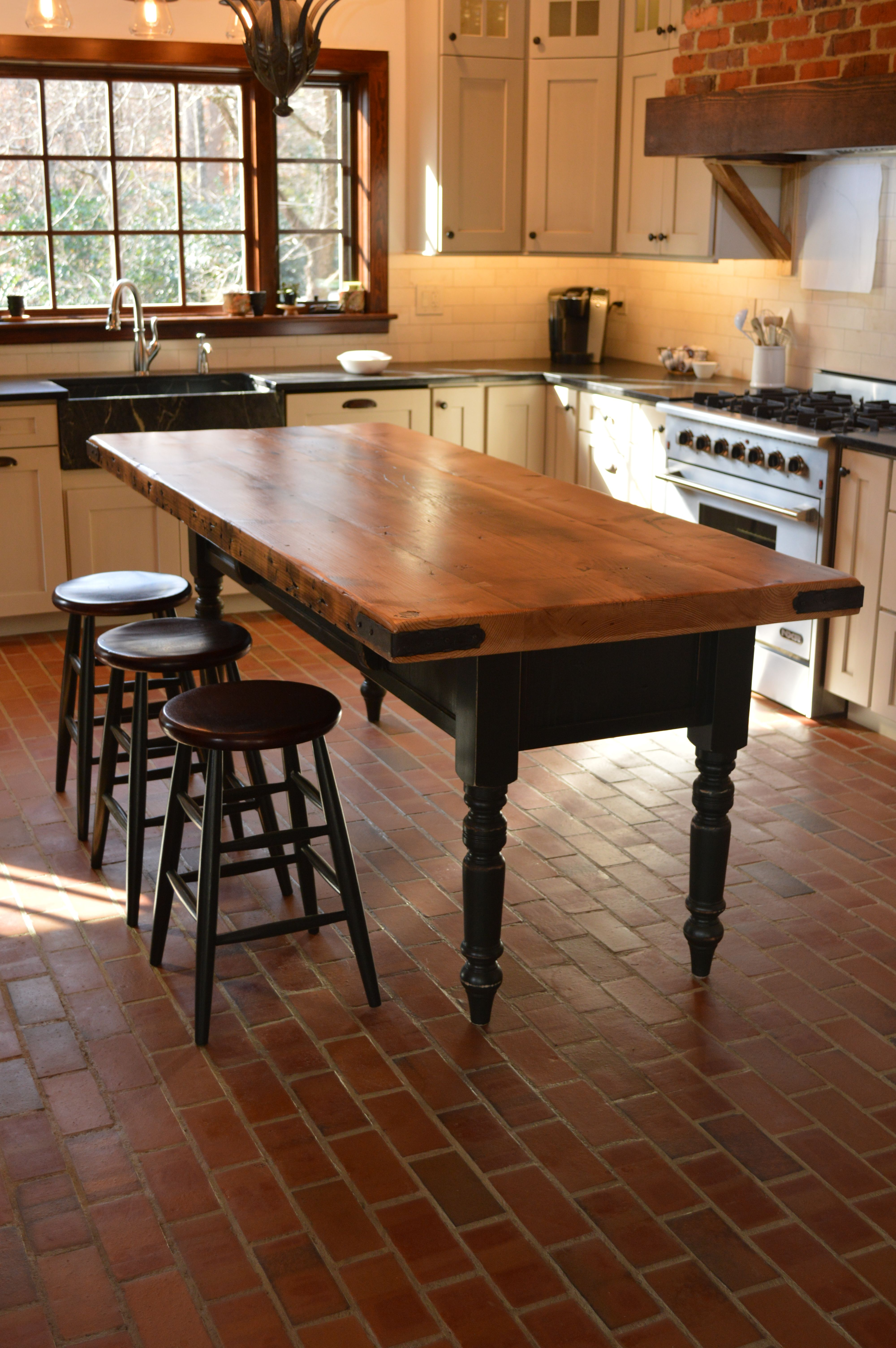 custom reclaimed wood kitchen island built by www conceptscreated rh pinterest co uk