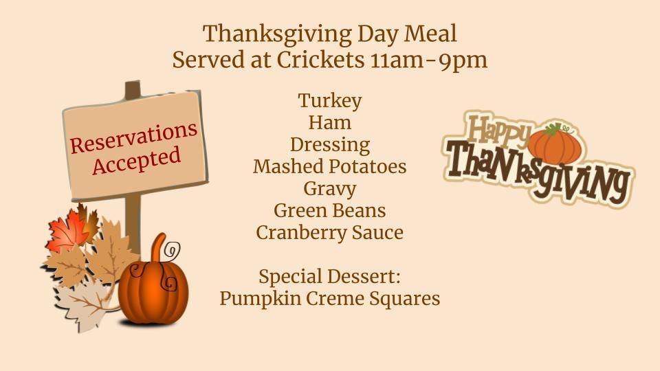 Happy Thanksgiving Yes We Re Open We Re Serving A Thanksgiving Meal Today Come By Or Cal Green Beans With Cranberries Special Desserts Thanksgiving Recipes