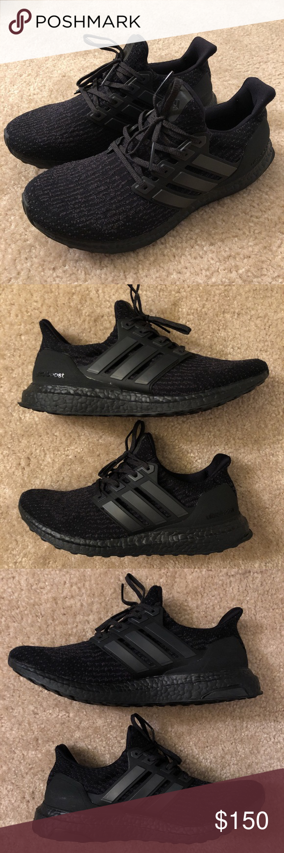 official photos 46a5b b4cbc Ultra Boost 3.0 Triple Black 2.0 CG3038 Men s US size 8.5 Authentic without  original box Condition 9.5 10 adidas Shoes Sneakers