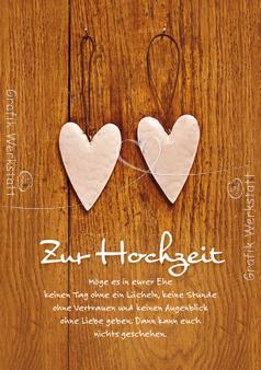 Zur Hochzeit Doppelkarte Grafik Werkstatt Bielefeld Hochzeit