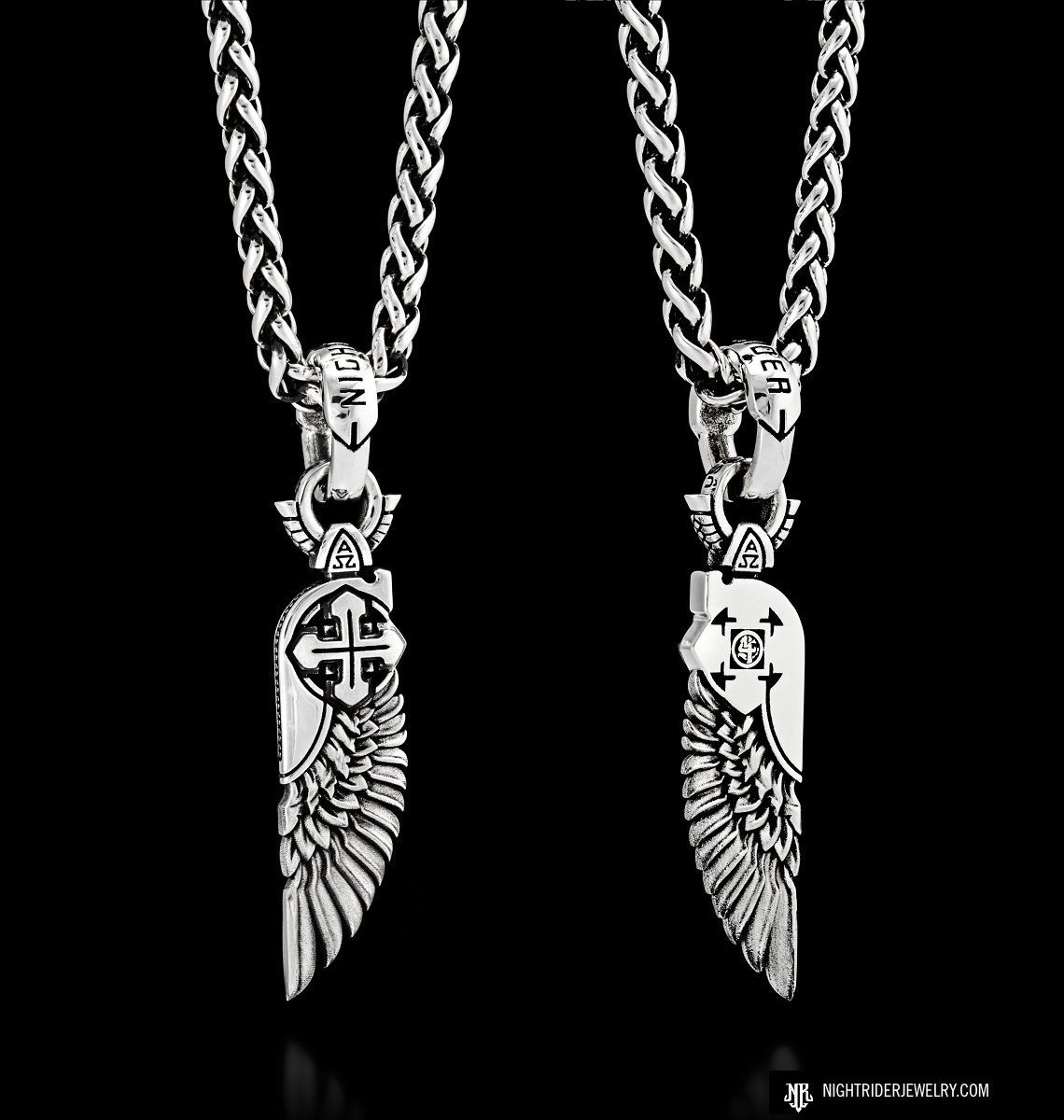 "NightRider Jewelry ""Cherubim"" Angel Wing Necklace Pendant"