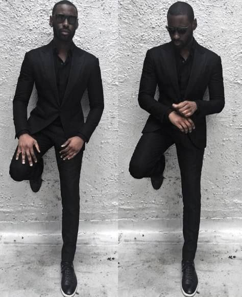 black suits Professional men in