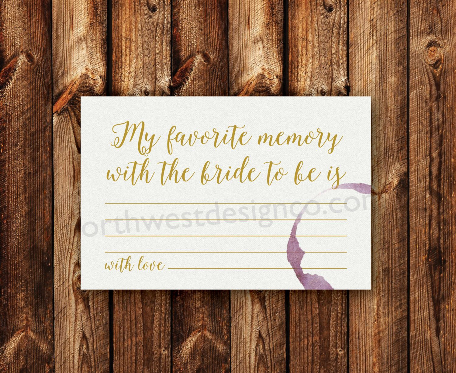 games to play at couples wedding shower%0A DIGITAL  Wine Theme My Favorite Memory With the Bride Shower Game Gold  Wine Ring Printable