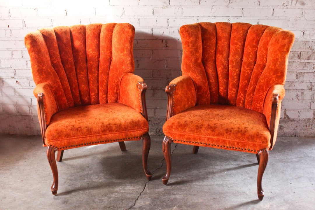 Burnt Orange Accent Chair Best Paint For Wood Furniture Orange
