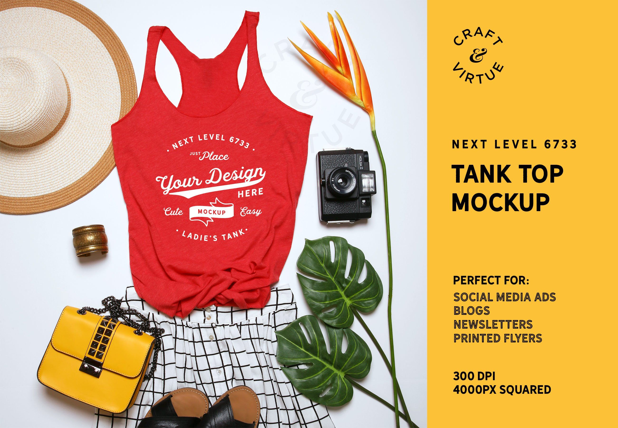 Tank Top Mockup Next Level 6733 , Ad, pictured