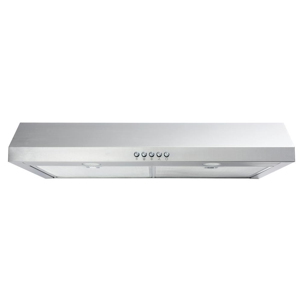 Vissani 30 In W Convertible Under Cabinet Range Hood With Charcoal Filter In Stainless Steel Qr254s The Home Depot Range Hood Charcoal Filter Under Cabinet Range Hoods
