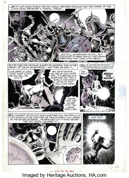 "Original Comic Art:Panel Pages, Wally Wood - Original Art for Creepy #41, page 40 (Warren, 1971).This is actually the tenth page of the story entitled ""Pre..."