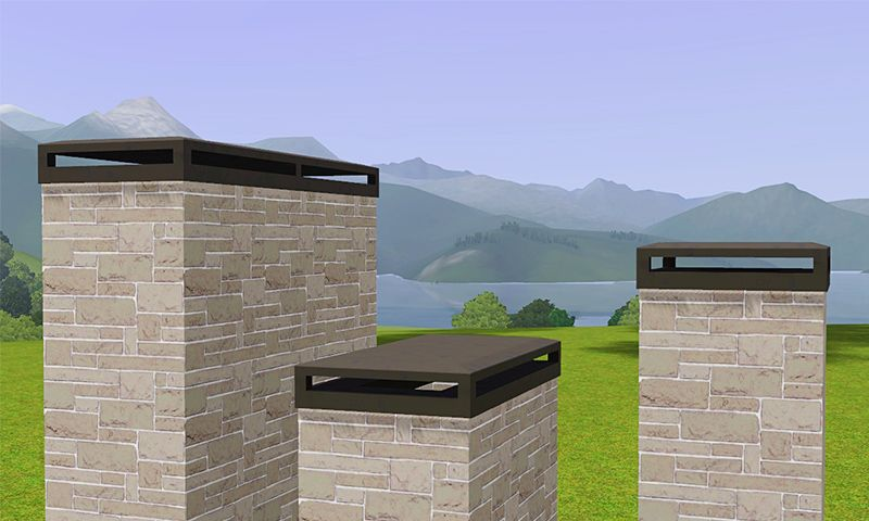 Decorative Chimney Caps By Gelinau0027s Sims 3 Blog These Would Bu Perfect For  Modern Houses!