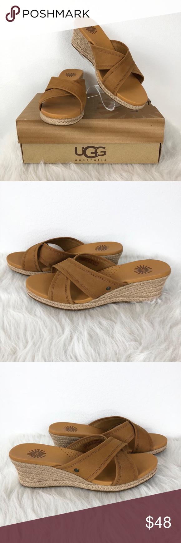 fa96155782a UGG Women's Size 8 GWYN Open Toe Wedge Sandals NWT NWT   My Posh ...