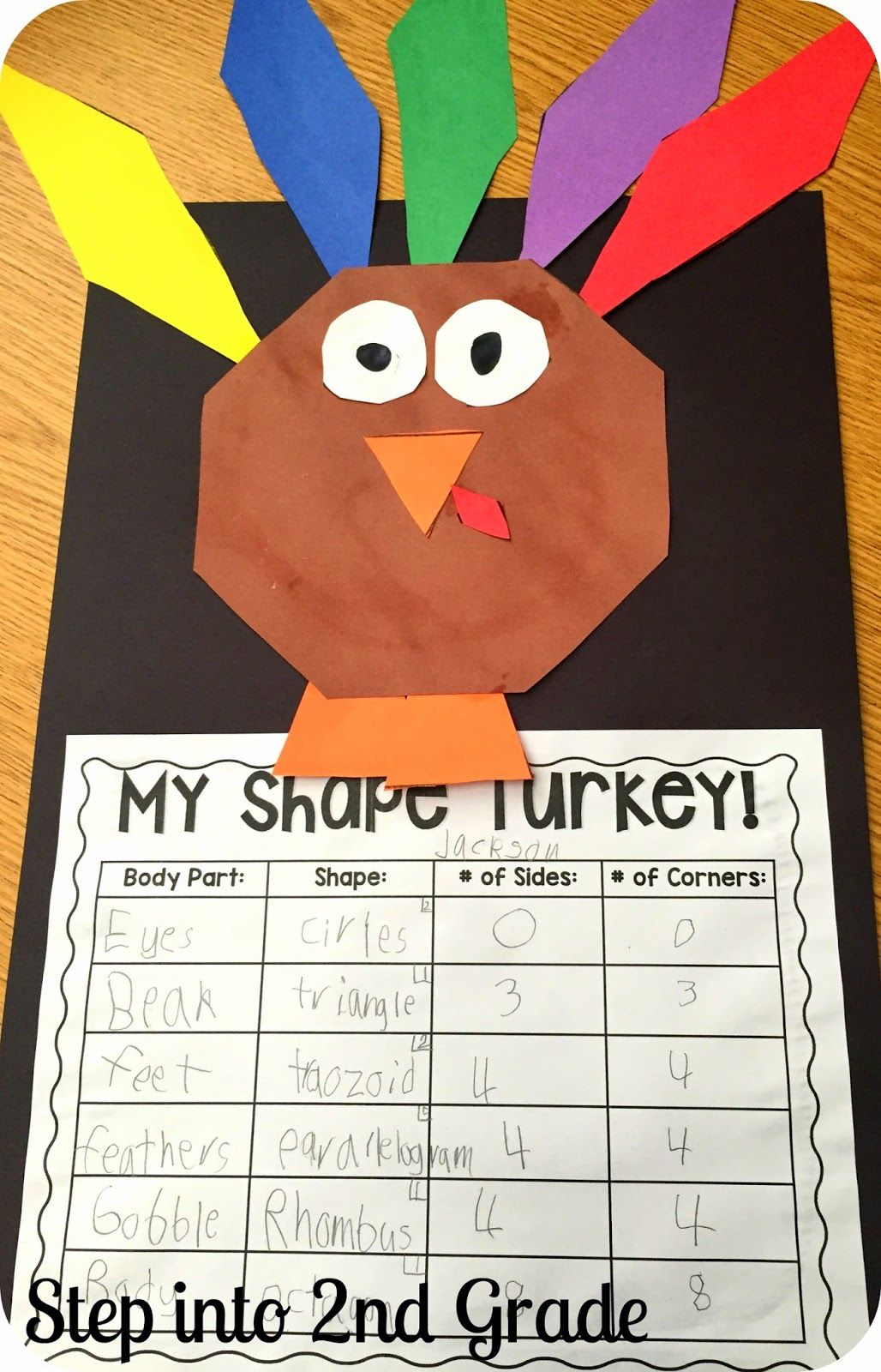 It's just an image of Effortless 2nd Grade Thanksgiving Crafts