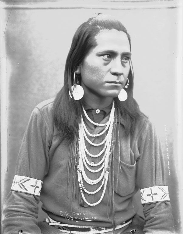 Unidentified Man, Billy O-We-U - Cayuse - 1900.