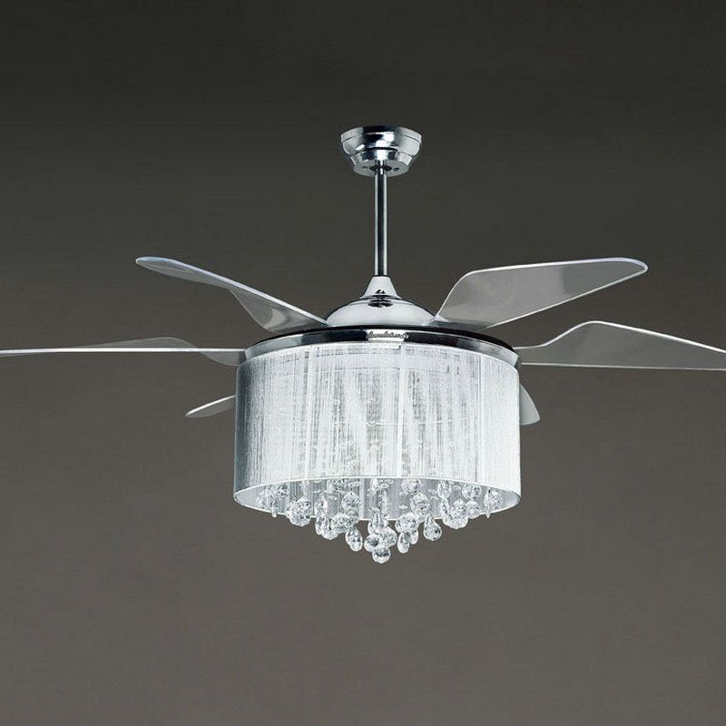 Silver ceiling fan with light suggestions modern ceiling design