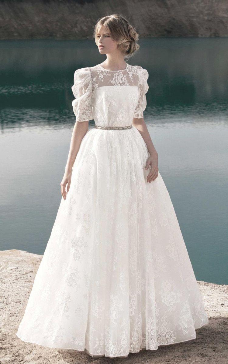 Us 180 00 Romantic Half Sleeve Lace Wedding Dress Www Junebridals Shop For Long Dresses D Wedding Dress Styles Short Wedding Dress A Line Wedding Dress