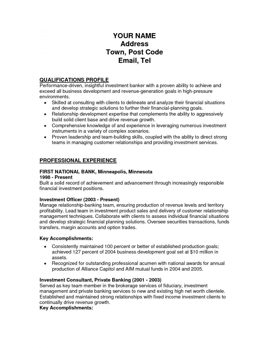 Investment Banking Cover Letter Mergers And Inquisitions Cover Letter Bank Teller Resume Template