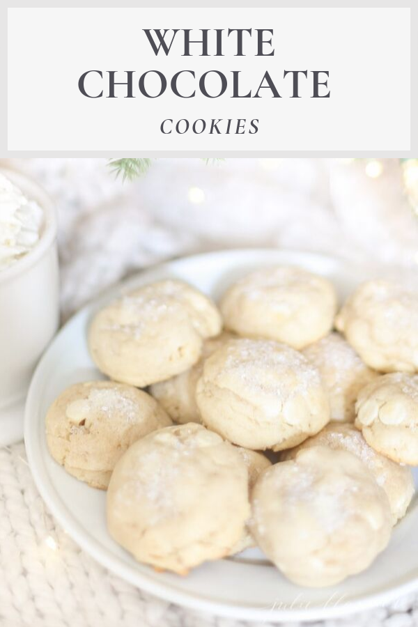 White Chocolate Cookies (White Christmas Cookies